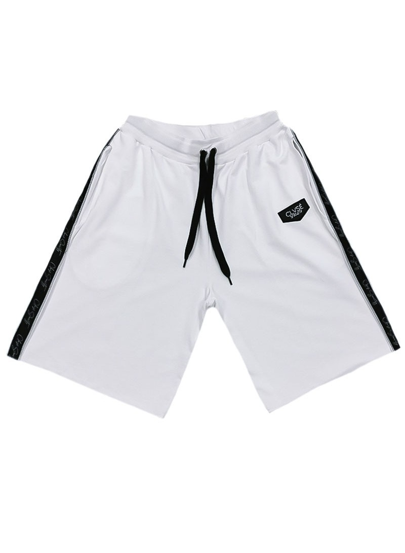 CLVSE SOCIETY WHITE LINE SHORTS