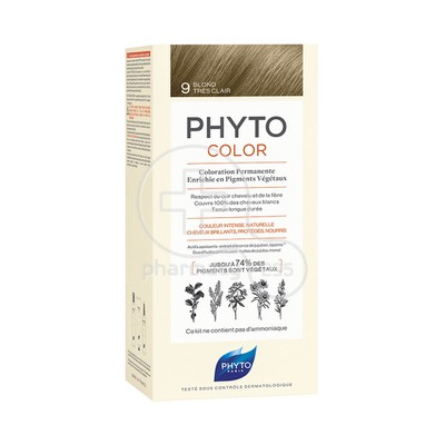 PHYTO - PHYTOCOLOR 9 Blond Tres Clair