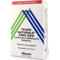 Alcon Tears Naturale Free Med 30x0.4ml