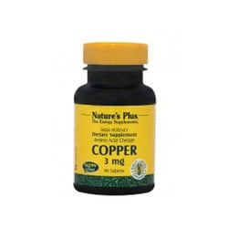 Nature's Plus Copper 3mg  90 Tαμπλέτες