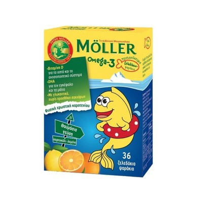 MOLLER'S - Omega-3 - 36 fish jellies