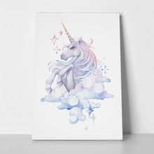 Cute watercolor unicorn sky hand drawn 555566035 a