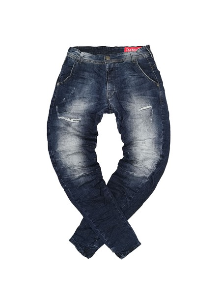 DAMAGED JEANS BLUE DENIM PANTS US29F