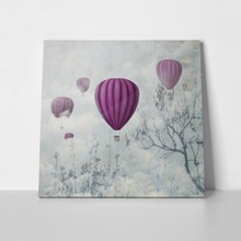 Balloons in the clouds a