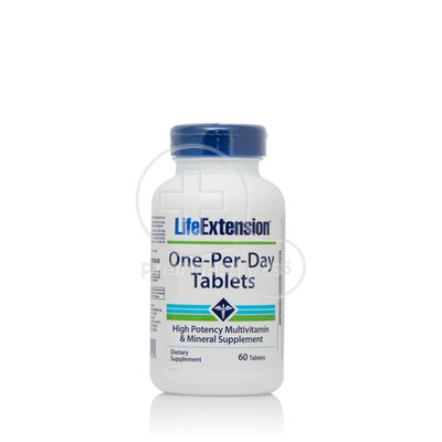 LIFE EXTENSION - One-Per-Day - 60veg.tabs