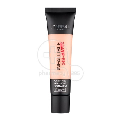 L'OREAL PARIS - INFALLIBLE 24h Matte Foundation No12 (Natural Rose) - 35ml
