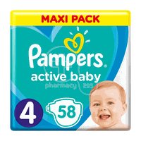 PAMPERS - MAXI PACK Active Baby Νο4 (9-14kg) - 58 πάνες