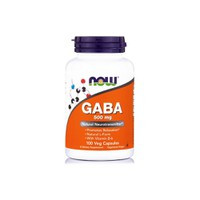 NOW GABA 500MG (WITH VITAMIN B-6) 100VEG. CAPS