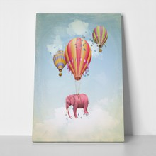 Pink elephant with balloons 132872012 a