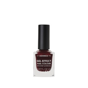 KORRES Gel effect nail colour N57 burgundy red 11ml
