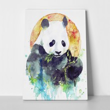 Panda painting eating leaves 416688577 a