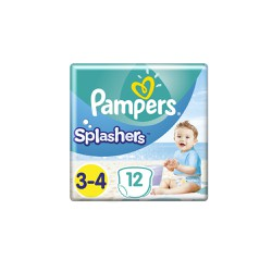 Pampers Splashers Size 3-4 12 Swimsuit Diapers