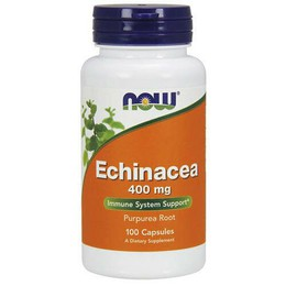 Now Echinacea 400 mg (Purpurea Root), 100 caps
