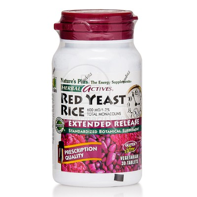 NATURE'S PLUS - HERBAL ACTIVES Red Yeast Rice 600mg Extended Release - 30tabs
