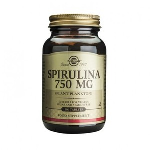 SOLGAR Spirulina 750mg 100tablets