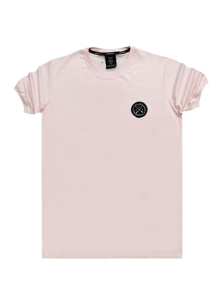 VINYL ART CLOTHING LIGHT PINK BASIC T-SHIRT