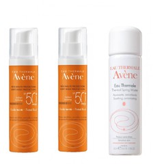 Avene High Protection Unifying Tinted Fluid Pump SPF50, 2x50ml + Δώρο Avene Eau Thermale Spring Water 50ml