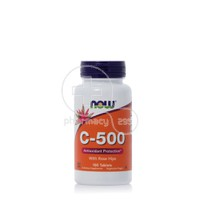 NOW - Vitamin C 500mg with Rose Hips - 100tabs