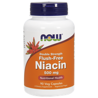 NOW FLUSH-FREE NIACIN 500 MG, 90 VEG. CAPS