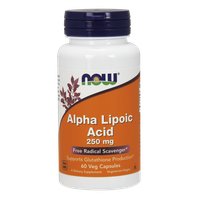NOW ALPHA LIPOIC ACID 250 MG, 60 VEG. CAPS
