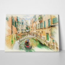 Canal venice italy oil painting effect 529792243 a