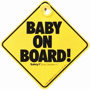 Baby On Board Κίτρινο Safety 1st