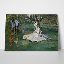 Monet family in argenteuil garden 747184381 a
