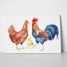 Watercolor chicken family 287110316 a