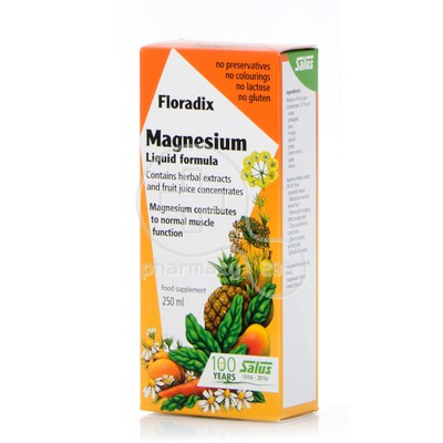 POWER HEALTH - SALUS FLORADIX Magnesium Liquid Formula - 250ml