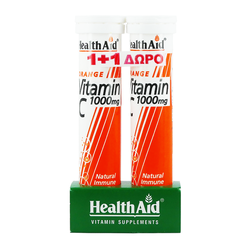 Health Aid Vitamin C 1000mg 20 Effervescent 1+1