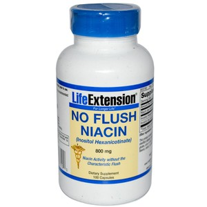Life extension no flush niacin 100caps