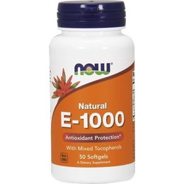 Now Foods Natural Vitamin E-1000 50 Softgels