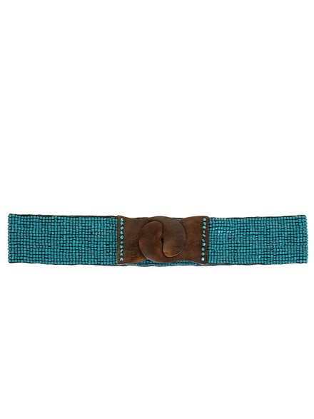 Elastic belt with beads