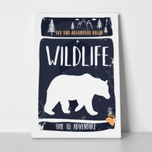 Wildlife slogan bear 753327724 a