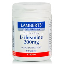 Lamberts L-THEANINE 200 mg - Άχγος / Στρες, 60 tabs