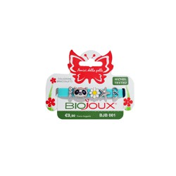 Biojoux BJB 001 MIX1 Charms Aqua Zinc Alloy Rhodium Plated Silicon Bracelet 5 τεμάχια