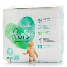 Pampers No.4 (9-14kg) - Pure Protection, 28τμχ