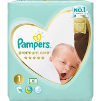 Pampers Premium Care No1 (2-5Kg) 78 Πάνες