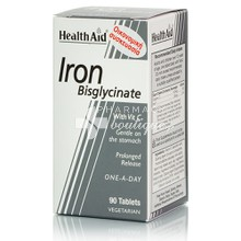 Health Aid IRON Bisglycinate 30mg (Iron with Vitamin C), 90tabs