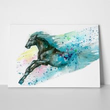 Watercolor illustration horse 786486208 a