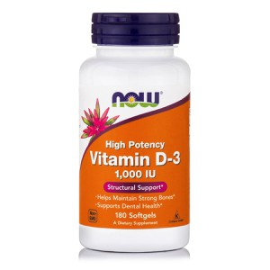 NOW Vitamin D3 1.000IU 180 softgels