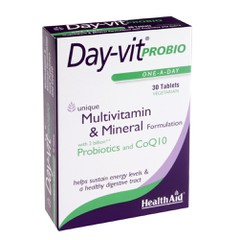 Health Aid Day-Vit Probio Probiotics CoQ10 30 ταμπλέτες