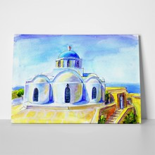 Santorini church a