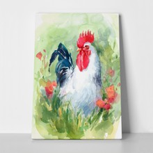 Watercolor farm bird rooster 285116792 a