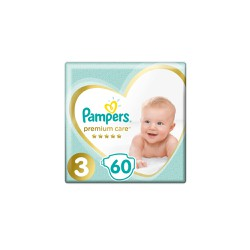 Pampers Premium Care Diapers Size 3 (6-10kg) 60 Diapers
