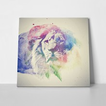 Lion portrait watercolor 360948347 a