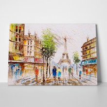 Paris street oil painting 641158363 a