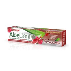 Optima Aloe Dent Triple Action Pomegranate Toothpaste Με Co Q10 Tea Tree Oil 100ml