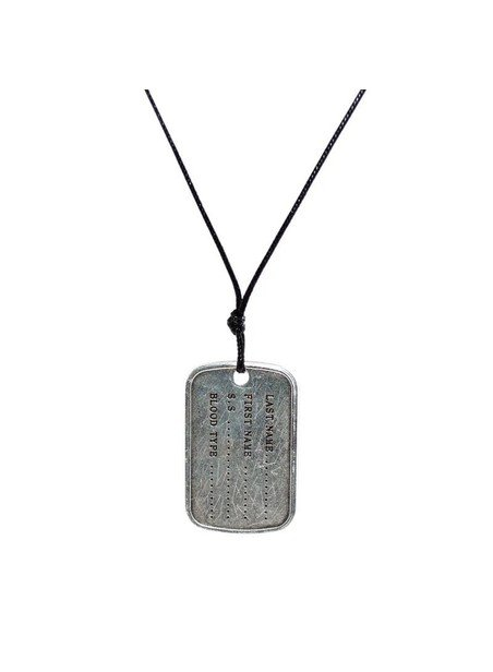 MILLIONALS ARMY TAG CORD NECKLACE