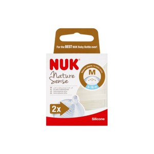Nuk nature sense medium  2pc